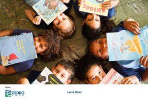Incentivo à leitura nas escolas públicas, para desenvolver a capacidade de expressão oral e escrita.Com o apoio da Cedro Mineração, o projeto chega a Nova Lima. Mais cultura às crianças da cidade, através da literatura.Ler é Viver